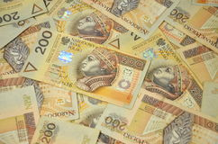 Polonais deux cents billets de banque de zloty Photos stock
