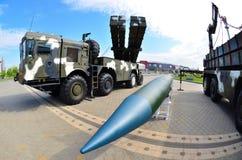 Polonez för internationell utställning för MILEX åtskillig lansering Rocket System arkivbild
