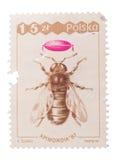 POLONIA - CIRCA 1987: Un sello impreso en abeja de las demostraciones, Imagen de archivo
