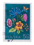 POLONIA - CIRCA 1974: Un sello impreso en desig de la planta de las demostraciones Imágenes de archivo libres de regalías