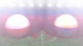 Polonia contra Colombia, mundial 2018 de la FIFA Vídeo original 3D
