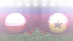 Polonia contra Senegal Mundial 2018 de la FIFA Vídeo original 3D ilustración del vector