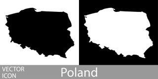 Polonia detalló el mapa ilustración del vector