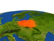 Polonia en rojo de la órbita stock de ilustración