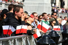 Polonia está de luto. Imagen de archivo libre de regalías