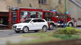 Polonia, Gliwice, 12/01/2019 miniatura de ciudades en Kolejkowo almacen de metraje de vídeo