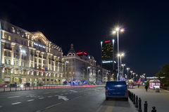 Polonia Hotel in Warsaw during the night Royalty Free Stock Photography