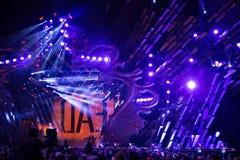 POLONIA, KRAKÓW - 1 DE ENERO DE 2015: Celebración del Año Nuevo 2015 Fotos de archivo libres de regalías