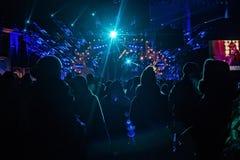 POLONIA, KRAKÓW - 1 DE ENERO DE 2015: Celebración del Año Nuevo 2015 Foto de archivo