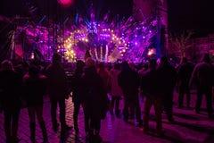 POLONIA, KRAKÓW - 1 DE ENERO DE 2015: Celebración del Año Nuevo 2015 Fotografía de archivo libre de regalías