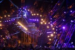 POLONIA, KRAKÓW - 1 DE ENERO DE 2015: Celebración del Año Nuevo 2015 Imágenes de archivo libres de regalías