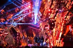 POLONIA, KRAKÓW - 1 DE ENERO DE 2015: Celebración del Año Nuevo 2015 Imagen de archivo