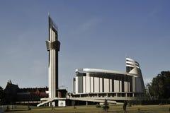 polonia Kraków - 31 de julio de 2017 Santuario de la misericordia del ` s de dios Fotografía de archivo