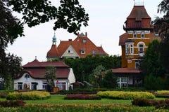 Polonia, Kudowa Zdroj - 17 de junio de 2018: Opinión Orion Holiday House fotos de archivo libres de regalías