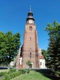 Polonia, Leszno - la iglesia de San Juan Bautista en la ciudad de Leszno foto de archivo