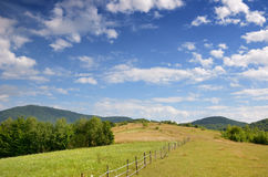 Polonina in the Carpathian mountains Royalty Free Stock Image