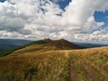 Polonina Wetlinska en las montañas de Bieszczady, Polonia Fotografía de archivo libre de regalías