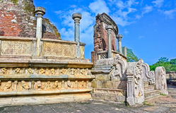 Polonnaruwa古老Vatadage 免版税图库摄影