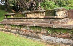 Polonnaruwa废墟在斯里兰卡 免版税库存图片