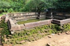 Polonnaruwa废墟在斯里兰卡 免版税图库摄影