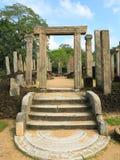 Polonnaruwa废墟在斯里兰卡 免版税库存照片