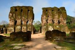 Polonnaruwa废墟,王宫,斯里兰卡 图库摄影