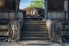 Polonnaruwa Ancient City, photo of the Vatadage (Circular Relic House) in Polonnaruwa. Quadrangle, UNESCO World Heritage Site, Sri Lanka, Asia. This is a photo stock photos