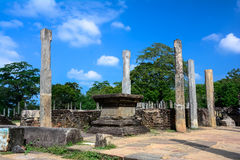 Polonnaruwa Ancient Granite Columns Stock Photos