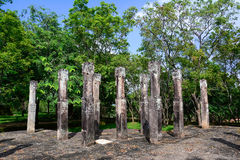 Polonnaruwa Ancient Granite Columns Royalty Free Stock Photos