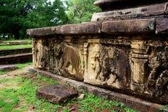 Polonnaruwa detalj royaltyfri fotografi