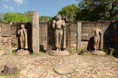 Polonnaruwa fördärvar, Hatadage fördärvar, Sri Lanka Arkivfoton