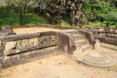 Polonnaruwa fördärvar i Sri Lanka Arkivbild