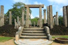 Polonnaruwa fördärvar i Sri Lanka Fotografering för Bildbyråer
