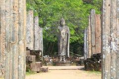 Polonnaruwa fördärvar i Sri Lanka Arkivfoto