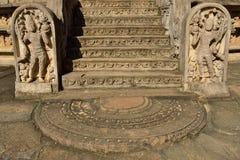 Polonnaruwa fördärvar, Vatadage (det runda huset), Sri Lanka Royaltyfria Bilder