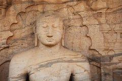 Polonnaruwa Gal Vihara Buddhist Statue. Sri Lanka Stock Photography
