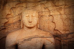 Polonnaruwa Gal Vihara Buddhist Statue. Sri Lanka Stock Images