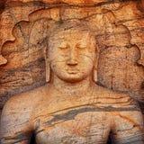 Polonnaruwa Gal Vihara Buddhist Statue. Sri Lanka Royalty Free Stock Image