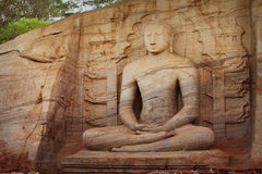 Polonnaruwa Gal Vihara Buddhist Statue. Sri Lanka Stock Photo