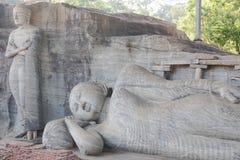 Polonnaruwa Gal Vihara Sri Lanka Stockfotografie