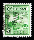 Polonnaruwa, Kiri Vehera Dagoba, Local Motives and Scenes serie,. MOSCOW, RUSSIA - MAY 13, 2018: A stamp printed in Ceylon shows Polonnaruwa, Kiri Vehera Dagoba Stock Image