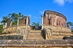 Polonnaruwa Oude Vatadage Royalty-vrije Stock Afbeeldingen