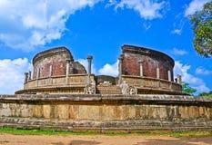 Polonnaruwa Oude Vatadage Stock Afbeeldingen