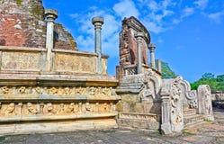 Polonnaruwa Oude Vatadage Royalty-vrije Stock Fotografie