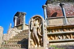 Polonnaruwa Oude Vatadage Royalty-vrije Stock Foto's