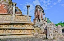 Polonnaruwa Oude Vatadage, Sri Lanka Royalty-vrije Stock Foto's