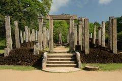 Polonnaruwa ruin, Atadage ruins, Sri Lanka Stock Images