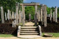 Polonnaruwa ruin, Atadage ruins, Sri Lanka Stock Photo