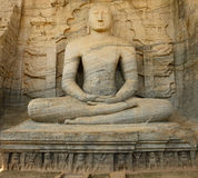 Polonnaruwa ruin, Buddha sculpture at Gal Vihara, Sri Lanka Royalty Free Stock Photos