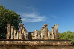 Polonnaruwa ruin, Nissanka Mallas Palace, Sri Lanka Stock Images